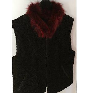Recycled Persian Lamb Vest by Harricana